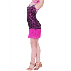Enfants Tenue de danse Polyester Danse latine Robes (115086691)