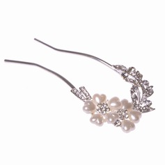 Charming Alloy/Imitation Pearls Hairpins