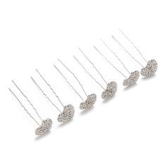 Pretty Rhinestone/Alloy Hairpins (Set of 6)