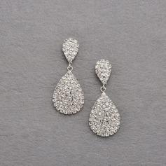 Elegant Alloy/Crystal Ladies' Earrings