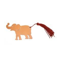 Lovely Elephant Stainless Steel Bookmarks With Tassel