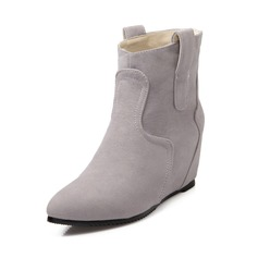Suede Wedge Heel Closed Toe Wedges Ankle Boots shoes