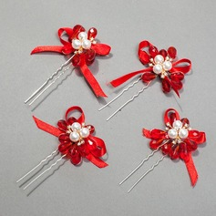 Lovely Crystal/Ribbon Hairpins(Sold in single piece)