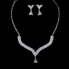 Beautiful Alloy/Rhinestones Women's Jewelry Sets