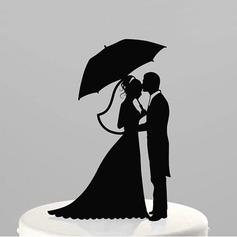Figurine Bride And Groom Acrylic Wedding Cake Topper