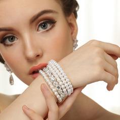 Gorgeous Alloy/Pearl/Czech Stones Ladies' Bracelets