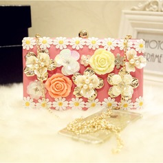 Pretty PU/Resin/Imitation Pearl Wristlets/Satchel