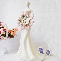 Beautiful Ladies Ceramic Wedding Cake Topper/Birthday Cake Topper