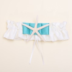 Elegant Ivory Garter in Satin With Ribbons