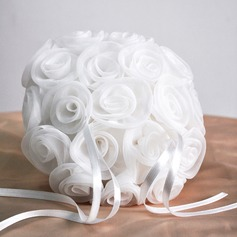 Gathered Elegance Ring Pillow