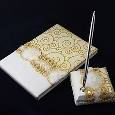 Lace Guestbook/Pen Set