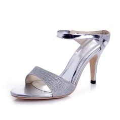 Women's Sparkling Glitter Cone Heel Sandals Pumps Slingbacks shoes
