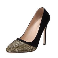 Women's Suede Stiletto Heel Pumps Closed Toe shoes