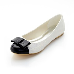 Leatherette Flat Heel Closed Toe With Bowknot shoes