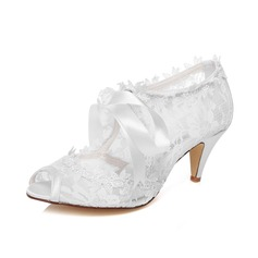 Kvinnor Spets Cone Heel Peep Toe Sandaler