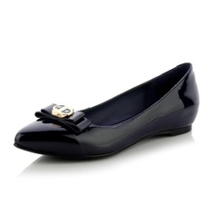 Real Leather Flat Heel Flats Closed Toe With Bowknot Sequin shoes