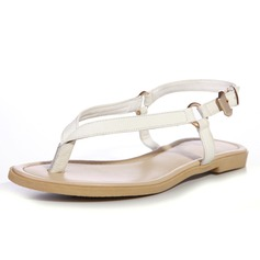 Real Leather Flat Heel Sandals Flats With Buckle shoes