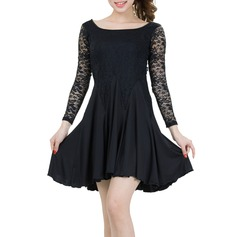 Women's Dancewear Lace Polyester Latin Dance Dresses (115086243)