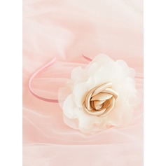 Satin/Organza With Flower Headbands