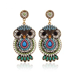 Nice Alloy Rhinestones Plastic With Rhinestone Ladies' Fashion Earrings