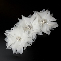 Unique Rhinestone/Alloy/Imitation Pearls/Net Yarn Combs & Barrettes/Flowers & Feathers