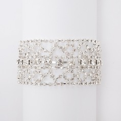 Fashion Alloy With Rhinestone Ladies' Bracelets