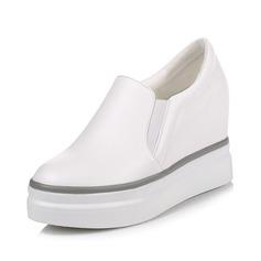 Mulheres Couro Plataforma Fechados sapatos