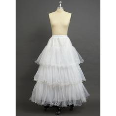 Women Tulle Netting/Organza Floor-length 3 Tiers Petticoats