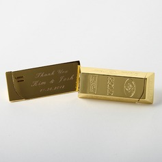 Personalized Gold Zinc Alloy Lighter (Set of 4)