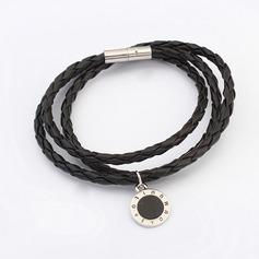 Simple Alloy Leatherette Ladies' Fashion Bracelets