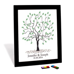 Personalized Tree Design Canvas Fingerprint Painting