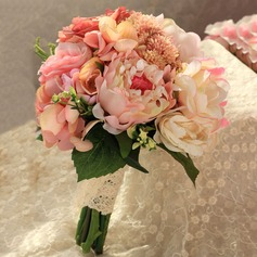 Attractive Round Satin Bridal Bouquets/Bridesmaid Bouquets