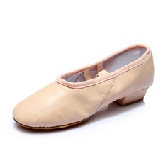 Women's Real Leather Heels Ballet Dance Shoes
