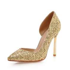 Women's Sparkling Glitter Stiletto Heel Pumps Closed Toe shoes (085085999)