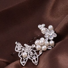 Beautiful Imitation Pearls Combs & Barrettes