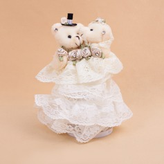 Delicate Ring Box With Bear Couple