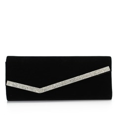 Fashional Velvet With Crystal/ Rhinestone Clutches