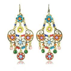 Lovely Alloy Resin Girls' Fashion Earrings