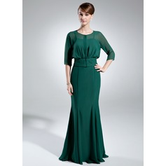 Trumpet/Mermaid Sweetheart Floor-Length Chiffon Mother of the Bride Dress
