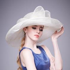 Ladies ' Smukke Netto garn Bowler / Cloche Hat