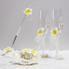 Flowers Design Collection Set With Seashell