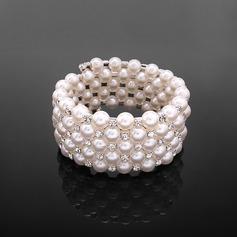 Prächtig Perle mit Strass Damen Armbänder