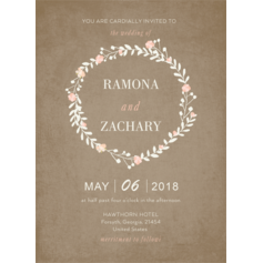 Rustic Style Flat Card Invitation Cards