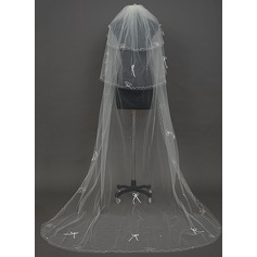 Three-tier Chapel Bridal Veils With Pencil Edge