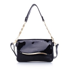 Fashional PU With Floral Print Shoulder Bags