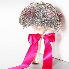 Gorgeous Round Rhinestone Bridal Bouquets