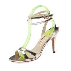 Women's Leatherette Stiletto Heel Sandals Pumps Peep Toe shoes