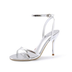 Women's Patent Leather Stiletto Heel Sandals Slingbacks shoes