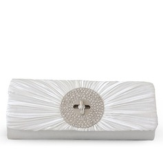 Bright Satin/Rhinestone Clutches/Wristlets