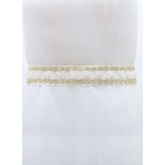 Simple Satin Sash With Lace